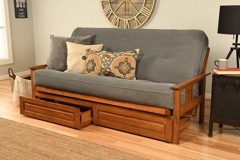 full-size-wooden-futon-Ikea