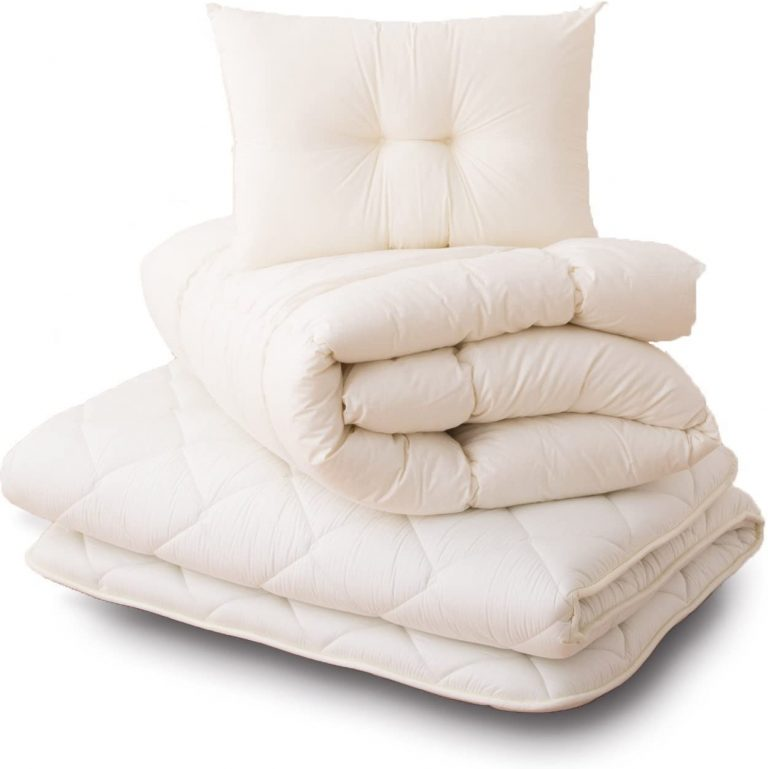 emoor japanese queen futon mattress set with blanket and pillow